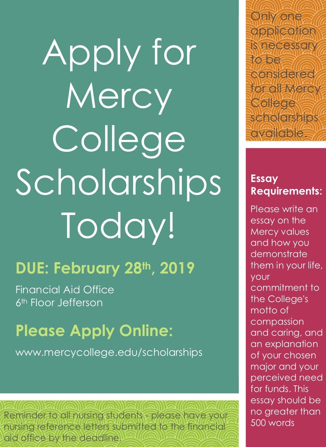 Apply For Mercy College Scholarships Today