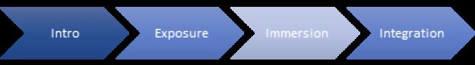 Intro Exposure Immersion Integration